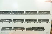 """Märklin H0 26558 Güterzug """"Stahlröhren"""" mit BR 44 mfx-digi Sound + 10 Wagen--Z62"""