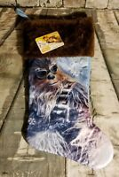 STAR WARS CHRISTMAS STOCKING CHEWBACCA NEW NWT DISNEY 16""