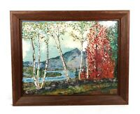 Vintage 1950's Oil Painting Mt. Chocorua in Albany, N.H. White Mountains Signed
