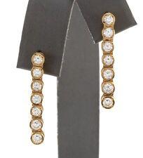 1.26 Carat Natural VS Diamonds in 18K Solid Yellow Gold Stud Earrings