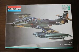 Monogram A-37 Dragonfly 1:48 Scale Model Kit.
