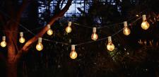 Lichterkette Glühbirne 10 Stück LED Beleuchtung Garten Outdoor L.9,6 m warmweiß