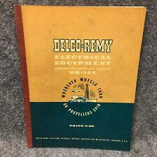 Delco-Remy Electrical Equipment DR-324 Operation Maintenance Handbook Book 1950
