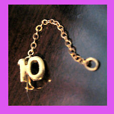 Official #10 Year Numeral Guard Adult Girl Scout Pin on Chain EUC Multi=1 Ship