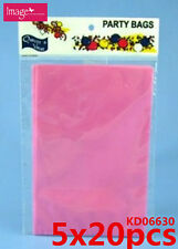 100pcs Clear Pink Cello PP Flat Gift Cellophane Craft Bag 110x160mm KD06630x5