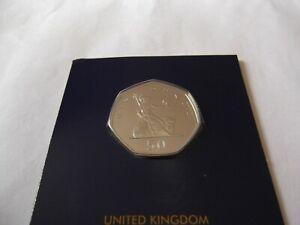 2019 BRITANNIA 50P COIN IN BRILLIANT UNCIRCULATED CONDITION. Re-issue