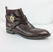 Womens Tommy Hilfiger Twrant Ankle Boots Booties Chocolate Brown Size 8.5