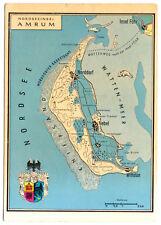 AK, Nordseeinsel Amrum, Landkarte der Insel, um 1975