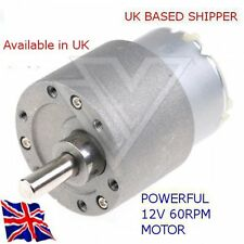 12V DC HIGH TORQUE - 60 RPM Reversable Motor & GBox -ARDUINO-RASPBERRY Pi--PIC