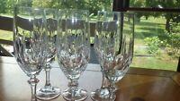 Crystal Fluted Champagne glasses Gardone pattern by SCHOTT-ZWIESEL 6 8oz