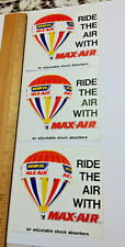 Monroe Max Air Adjustable Shock Absorbers Promo Advertising Stickers Lot of 3