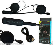 PDR*INTERFONO HEADSET MICROFONO AURICOLARE BLUETOOTH IMPERMEABILE CASCO MOTO MP3