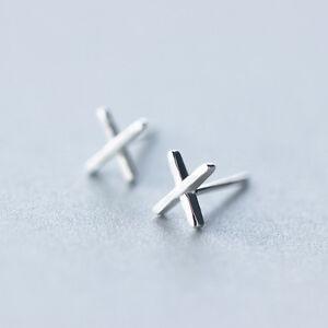 """B Ware: Kleine Ohrstecker """"X"""" echt Sterling Silber 925  Damen Ohrringe Buchstabe"""