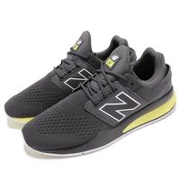 New Balance MS247TG D Grey Yellow Men Running Casual Shoes Sneakers MS247TGD
