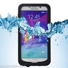 Custodia Impermeabile Nera Antiurto Samsung Galaxy Note 5 Waterproof Cover
