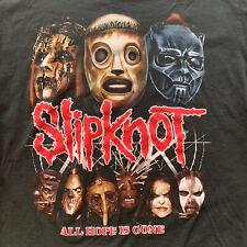 Slipknot All Hope Is Gone Vintage Tour Shirt 2009 Black Masks Faces XL