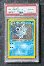 Pokemon PSA 8 Dark Blastoise Holo Legendary Collection #4/110