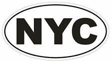 NYC New York City Oval Bumper Sticker or Helmet Sticker D148 Euro Oval