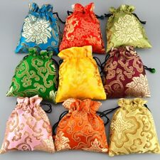 Wholesale 50pcs Chinese Handmade Silk Gift Pouches Purse Jeweler  Gift bag