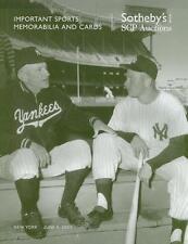 Sothebys / Baseball Sports Memorabilia Auction Catalog 2007