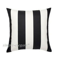 "IKEA VARGYLLEN Cushion Cover 20x20"" Black White Striped IKEA Deco Pillow Cover"