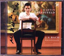 Martin STADTFELD Signed BACH Piano Concerto 1 2 5 Prelude Fugue CD Achim Fiedler