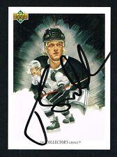 Tomas Sandstrom signed autograph auto 1991-92 Upper Deck Hockey Checklist Card