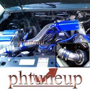 1995-1997 Ford Ranger XL XLT Mazda B2300 2.3 2.3L SOHC COLD AIR INTAKE KIT BLUE