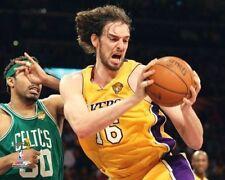 "PAU GASOL 2010 NBA FINALS ""LA Lakers"" Game 6 LICENSED picture poster 8x10 photo"