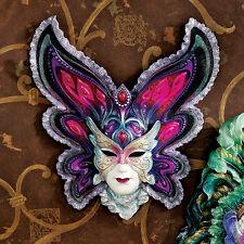 Venetian Style Flamboyant Mardi Gras Butterfly Carnevale Mask Wall Sculpture