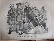 "7x10"" PUNCH cartoon 1855 THE ENGLISH PACIFICATOR panmure / crimea"