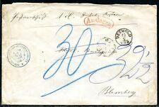 Annecy 1860ca dépenses lettre après Blomberg (j4081b