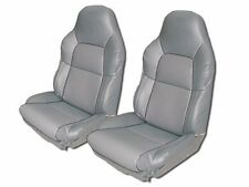 CHEVY CORVETTE C4 STANDARD 94-96 GREY S.LEATHER CUSTOM FIT SEAT COVER