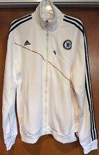 NEW ADIDAS CHELSEA FC WHITE TRAINING JACKET SIZE XL