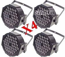 4X RGB LED Stage Light DMX Par Can Uplighter Lighting Effect DJ Disco Band Party