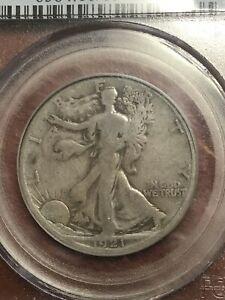 PCGS VG10 1921 D WALKING LIBERY HALF DOLLAR VERY SCARCE DATE
