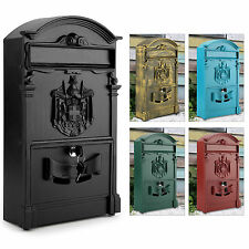 NEW VINTAGE OUTDOOR LOCKABLE POST BOX LARGE MAILBOX LETTER BOX MAIL WALL MOUNTED  sc 1 st  eBay & Unbranded Aluminium Letterboxes | eBay Aboutintivar.Com