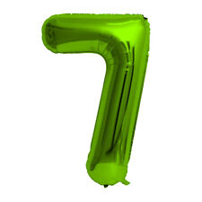 """Green Foil Party Balloon - Large 80cm (32"""") - Birthday Age - Number 7"""