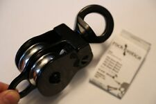 Black ROCK EXOTICA 1.5 Pulley twin sheave double block for 1/2 inch Rope