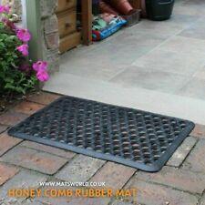 Door Entrance Mat Heavy Duty Non Slip Dirt Catcher Honeycomb Rubber Outdoor