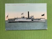 """ANTIQUE POSTCARD THE """"TICONDEROGA"""" ON LAKE CHAMPLAIN,N.Y. POSTED1912"""