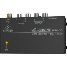 BEHRINGER MICROPHONO PP400 preamplificatore phono line RCA giradischi DJ HI-FI