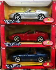 LOT OF 3 MODELS BASE FERRARI 575 SUPERAMERICA RED, SILVER & BLUE FREE SHIPPING