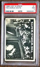 1966 TOPPS  LOST IN SPACE #1 THE WORLD WAITS  PSA 7 !! VERY TOUGH  Nice!!