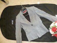 Hugo Boss Abriella 2-Knopf Damen Blazer Größe:32  + Hose Größe:34 , Farbe : Grau