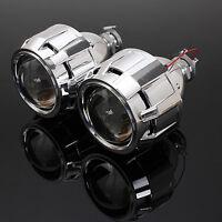 2x RHD 2,5'' Lenticolare Proiettore Lente Fari Angel Eye Bi-Xenon Luci H1