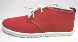 Ugg Australia Size 8 Red Canvas Chukka Ankle Boots New Mens Shoes