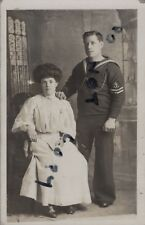 WW1 sailor Leading Seaman and 1st class shot ? Royal Navy with wife