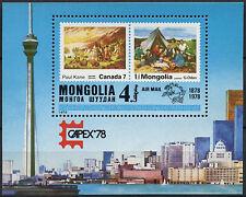 Mongolia 1978 SG#MS1145 Capex Stamp Exhibition MNH M/S #D2290