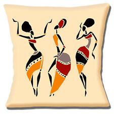 African Tribal Femmes Housse de coussin 16x16 pouces 40 cm Dancing Silhouettes ethnique